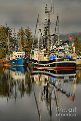 Portrait Of The Ucluelet Trawlers Print by Adam Jewell