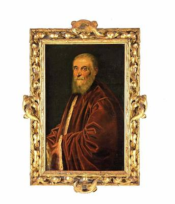 Red Painting - Portrait Of The Venetian Senator Marco by MotionAge Designs
