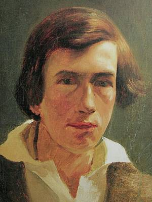 Arnold Painting - portrait of the young Arnold Bocklin by MotionAge Designs