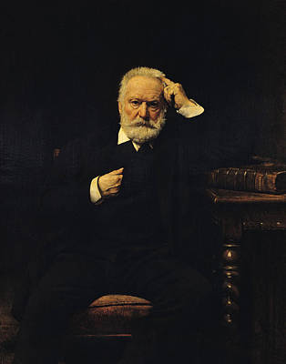 Leon Bonnat Painting - Portrait Of Victor Hugo by Leon Bonnat