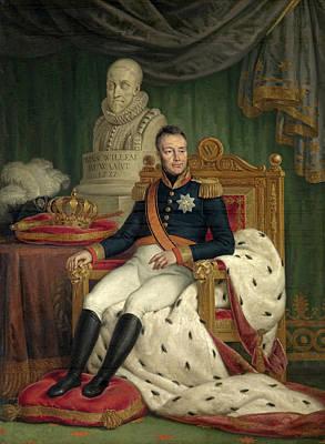 Ignatius Painting - Portrait Of William I King Of The Netherlands by Mattheus Ignatius van Bree