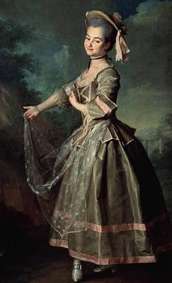 Concubine Painting - Portrait Of Yekaterina Nelidova by Dmitri Grigor'evich Levitsky