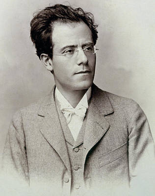 Portrait Photograph Of Gustav Mahler Print by Austrian School