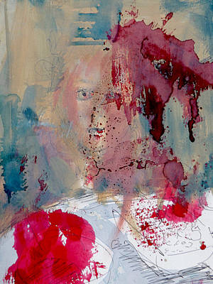 Visceral Mixed Media - Portrait#6 Kitchen Table by Pearse Gilmore