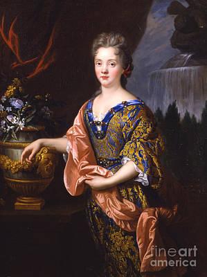 De Troy Painting - Portraits Of An Elegant Woman by Celestial Images