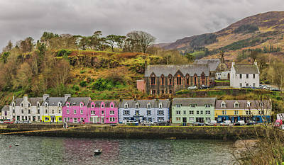 Portree Harbour Print by Mike Herdering