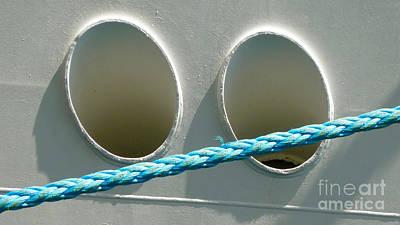 Portside - Ship And Rope Print by Jason Freedman