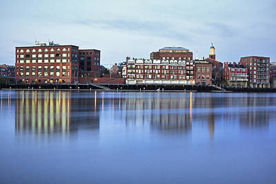 Portsmouth Harbor Reflections Print by Eric Gendron