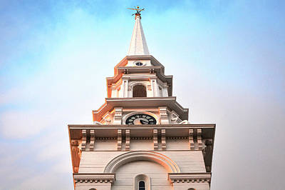 Weathervane Photograph - Portsmouth North Church Steeple by Eric Gendron
