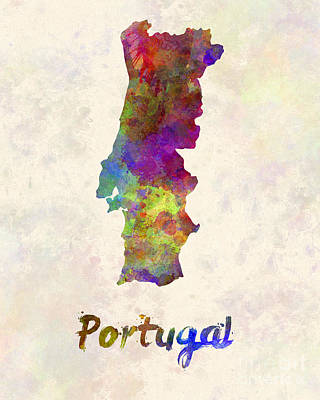 Portugal Art Painting - Portugal In Watercolor by Pablo Romero