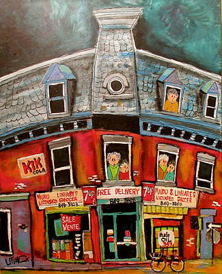 Portuguese Corner Store Memories Original by Michael Litvack