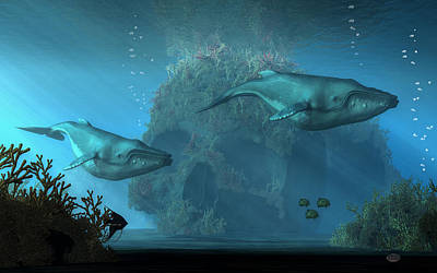 Poseidon Digital Art - Poseidon's Grave by Daniel Eskridge