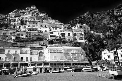 House On The Hill Photograph - Positano Top View by John Rizzuto