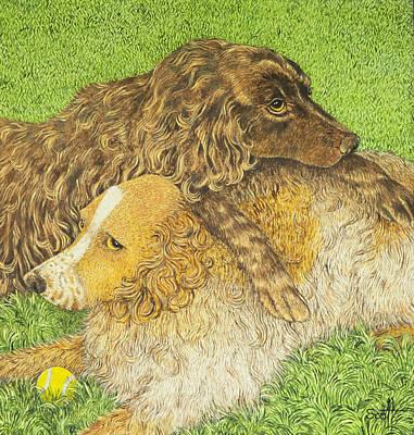 Tennis Ball Painting - Possession by Pat Scott