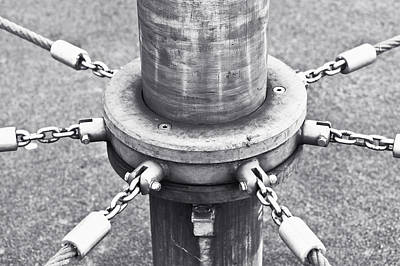 Radiates Photograph - Post And Chains by Tom Gowanlock