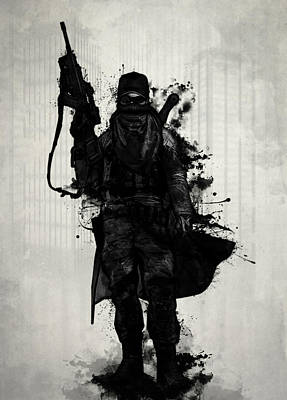 Post Apocalyptic Warrior Print by Nicklas Gustafsson