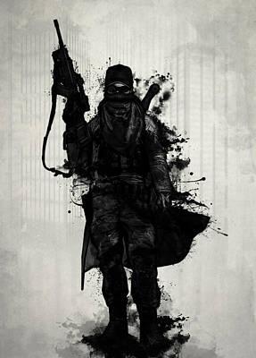 Apocalyptic Digital Art - Post Apocalyptic Warrior by Nicklas Gustafsson