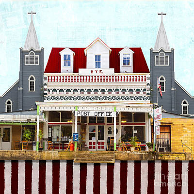 Post Office In Hye Texas Print by Elena Nosyreva