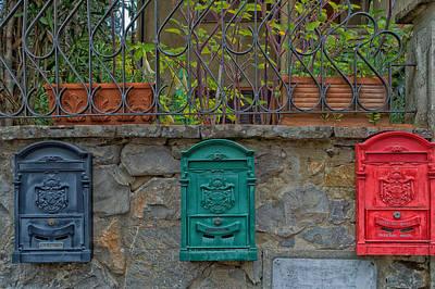 Mail Box Photograph - Postal Boxes by Mountain Dreams
