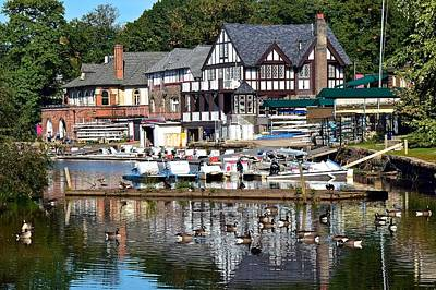 Postcard Perfect Boathouse Row Print by Frozen in Time Fine Art Photography