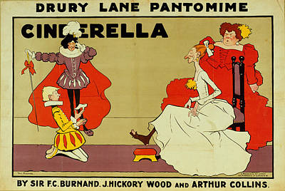 Princes Painting - Poster For Cinderella by Tom Browne