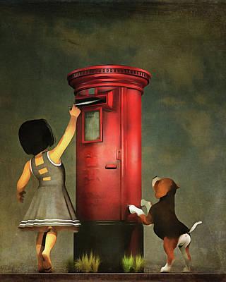 Posting A Letter Together Print by Jan Keteleer
