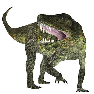 Triassic Painting - Postosuchus Triassic Reptile by Corey Ford