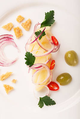With Red. Photograph - Potato Salad With Red Onion by Vadim Goodwill