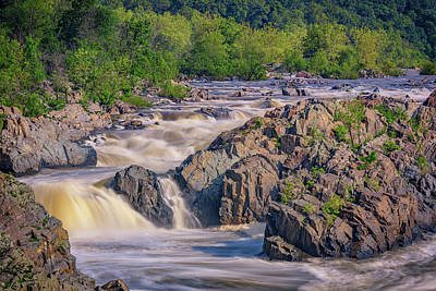 Potomac River At Great Falls Park Print by Rick Berk