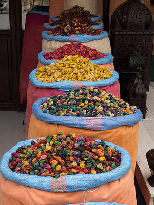 Potpourri For Sale In Souk, Marrakesh Print by Panoramic Images