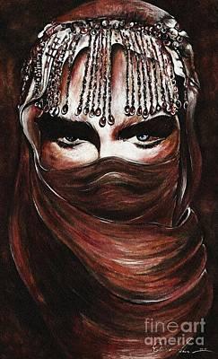 Hijab Art Painting - Hijab by Qasir Z Khan