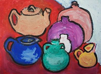 Pots Print by Jay Manne-Crusoe