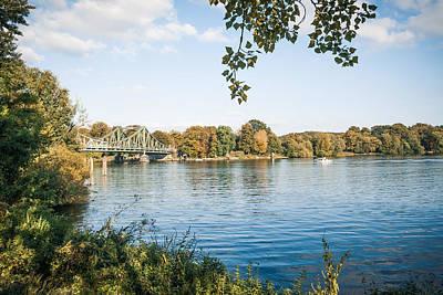 Potsdam - Havel River / Glienicke Bridge Print by Alexander Voss