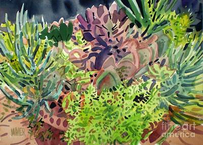 Potted Succulents Print by Donald Maier