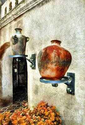 Water Jug Photograph - Pottery In Arizona by Mel Steinhauer
