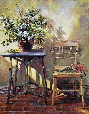Pottery Maker's Table Original by David Lloyd Glover