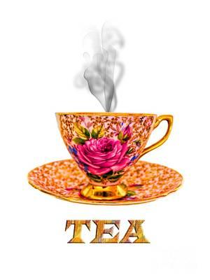 Gilt Cup Photograph - Potty About Tea by Gillian Singleton