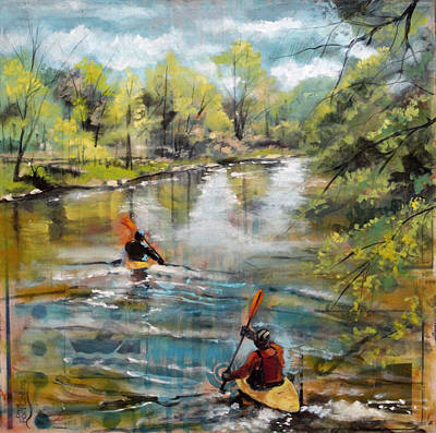 Fort Collins Painting - Poudre Partners by Amelia Furman