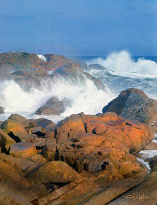 Incoming Tide Photograph - Pounding Surf by Frank Wilson