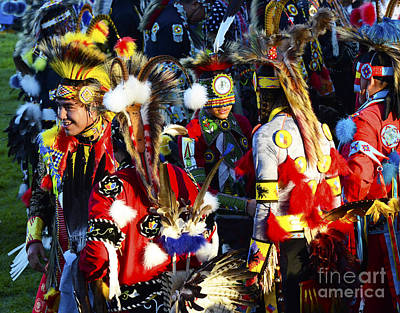 Pow Wow Beauty Of The Past 5 Print by Bob Christopher
