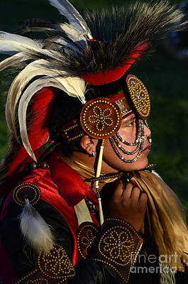 Pow Wow Beauty Of The Past 6 Print by Bob Christopher