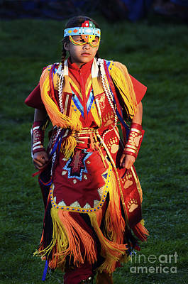 Pow Wow Beauty Of The Past 8 Print by Bob Christopher