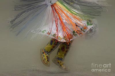Pow Wow Shawl Dancer 4 Print by Bob Christopher