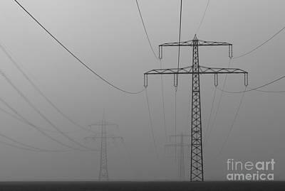 Field Digital Art - Power Line by Franziskus Pfleghart