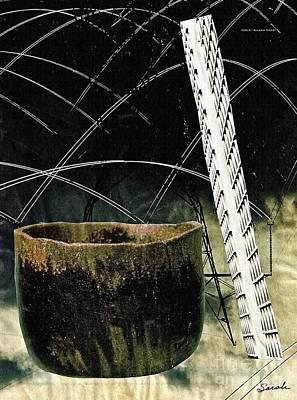 Contemporary Ceramics Mixed Media - Power Lines by Sarah Loft