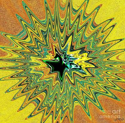 Chakra Painting - Power Star Abstract by Julia Stubbe