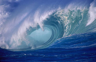 Curl Photograph - Powerful Surf by Ron Dahlquist - Printscapes