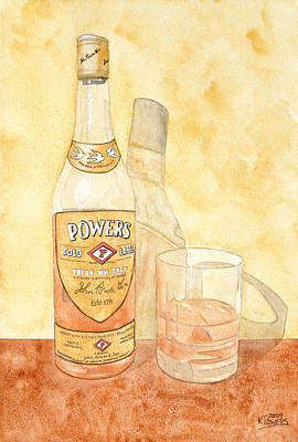 Cocktail Painting - Powers Irish Whiskey by Ken Powers