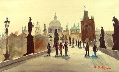 Czech Republic Painting - Prague by Achilles Kalogiros