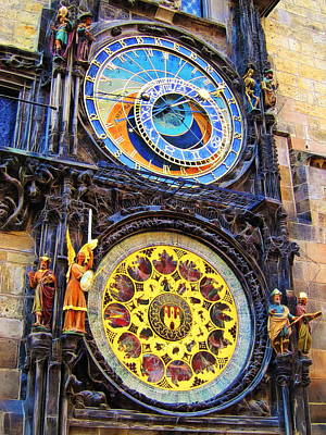 Prague Astronomical Clock Print by Andreas Thust